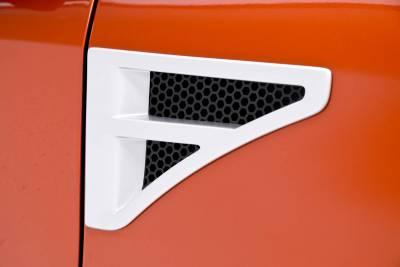 3dCarbon - Lincoln MKZ 3dCarbon Fender Vents - Pair with Octagon Grille - 691524
