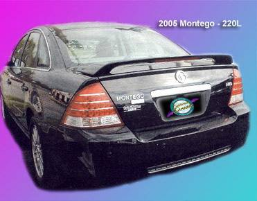 California Dream - Mercury Sable California Dream Custom Style Spoiler with Light - Unpainted - 220L