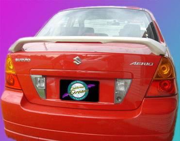 California Dream - Suzuki Aerio California Dream Custom Style Spoiler with Light - Unpainted - 26L
