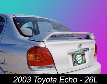 California Dream - Toyota Echo California Dream Custom Style Spoiler with Light - Unpainted - 26L