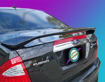 California Dream - Ford Fusion California Dream Custom Style Spoiler with Light - Unpainted - 27L
