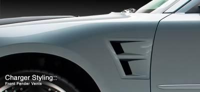 3dCarbon - Dodge Charger 3dCarbon Front Fender Vents - Right & Left - 691977