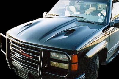 APM. - Chevrolet CK Truck APM Fiberglass Cobra Cowl Non-Functional Hood - Painted - 811010