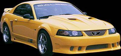 APM. - Ford Mustang APM Fiberglass Non-Functional Hood - Primed - 811112