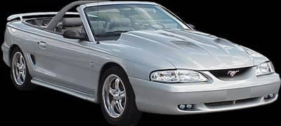 APM. - Ford Mustang APM Fiberglass Non-Functional Hood - Primed - 811132