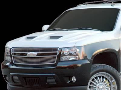 APM. - Chevrolet Avalanche APM Fiberglass Functional Hood - Primed - 811322