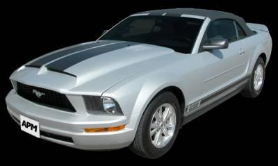 APM - Ford Mustang APM Fiberglass KR Style Functional Hood - Primed - 811412