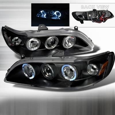 Custom Disco - Honda Accord Custom Disco Black Halo Projector Headlights - 2LHP-ACD98JM-YD