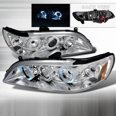 Custom Disco - Honda Accord Custom Disco Chrome Halo Projector Headlights - 2LHP-ACD98-YD