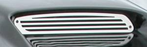 APM - Ford Superduty APM Stainless Steel Billet Vent Grille for Plastic G-Force Power Hood - 820013