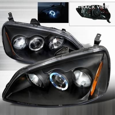 Custom Disco - Honda Civic Custom Disco Black Projector Headlights - 2LHP-CV01JM-YD
