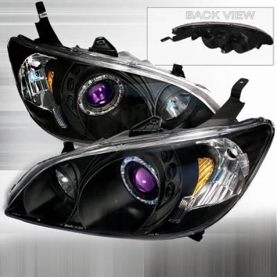 Custom Disco - Honda Civic Custom Disco Black Projector Headlights - 2LHP-CV04JMB-KS