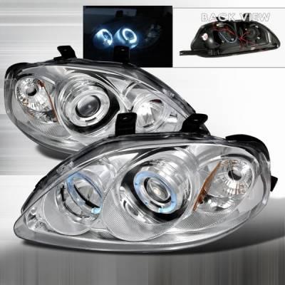 Custom Disco - Honda Civic Custom Disco Clear Projector Headlights - 2LHP-CV99-YD