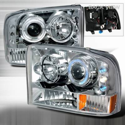 Custom Disco - Ford F250 Custom Disco Projector Headlight - LED - 2LHP-F25099-YD