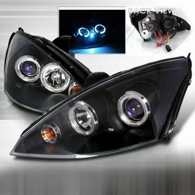Custom Disco - Ford Focus Custom Disco Black Projector Headlights - 2LHP-FOC00JM-YD