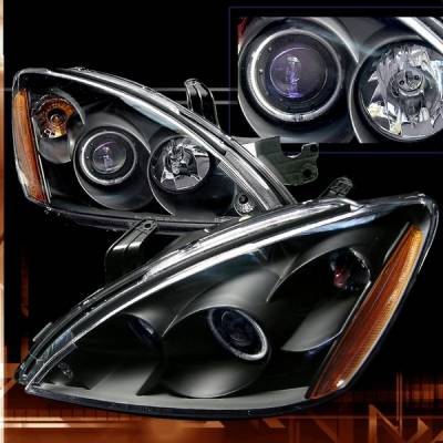 Custom Disco - Mitsubishi Lancer Custom Disco Black Projector Headlights - 2LHP-LAN03HJM-KS
