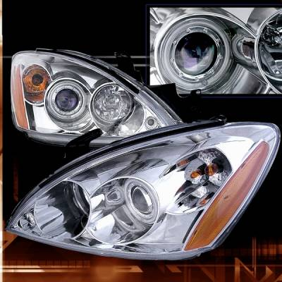 Custom Disco - Mitsubishi Lancer Custom Disco Chrome Projector Headlights - 2LHP-LAN03H-KS