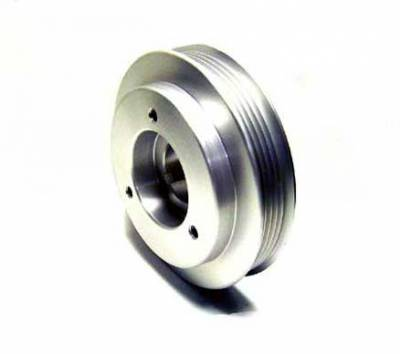 Auto Specialties - Auto Specialties Crank Pulley with 25 Percent Reduction - Hard Clear Aluminum - 840096