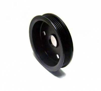 Auto Specialties - Auto Specialties Crank Pulley with 25 Percent Reduction - Hard Black Aluminim - 840097