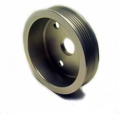 Auto Specialties - Auto Specialties Crank Pulley with 20 Percent Reduction - Hard Clear Aluminum - 840104