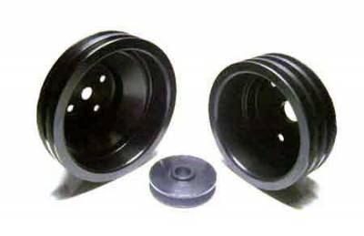Auto Specialties - Auto Specialties Crank Pulley with 25 Percent Reduction - Full Charge 950 RPM - Hard Black Aluminum - 841322