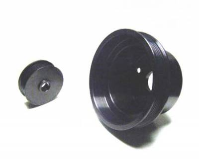 Auto Specialties - Auto Specialties Crank Pulley with 25 Percent Reduction - Full Charge 950 RPM - Hard Black Aluminum - 846284