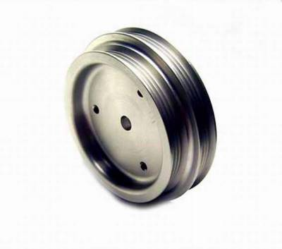 Auto Specialties - Auto Specialties Crank Pulley with 34 Percent Reduction - Full Charge 950 RPM - Hard Black Aluminum - 847600