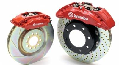 Brembo - Nissan 370Z Brembo Gran Turismo Brake Kit with 4 Piston 345x28 Disc & 2-Piece Rotor - Rear - 2Px.8021A