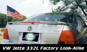California Dream - Volkswagen Jetta California Dream OE Style Spoiler with Light - Unpainted - 332L