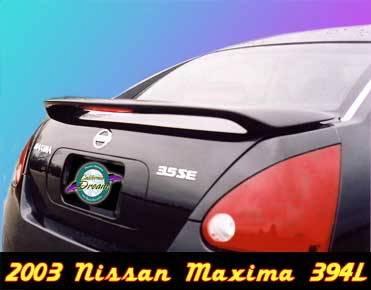California Dream - Nissan Maxima California Dream Custom Style Spoiler with Light - Unpainted - 394L