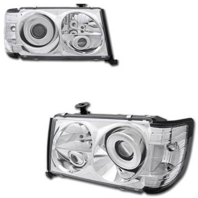 Custom - Chrome Projector Headlights - 300E 400E 500E