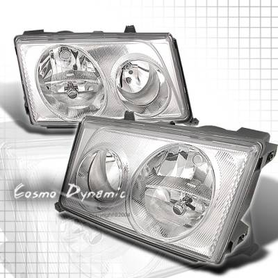 Custom - Chrome Crystal Headlights - 300E 400E 500E
