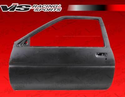 VIS Racing - Toyota Corolla VIS Racing OEM Style Fiberglass Door - Pair - 84TYCOR2DOE-025