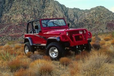 Xenon - Jeep Wrangler Xenon Traditional Urethane Fender Flare Kit - 8200