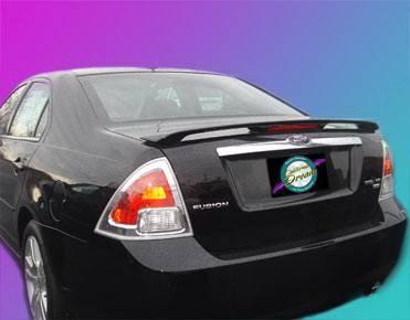 California Dream - Ford Fusion California Dream OE Style Spoiler with Light - Unpainted - 704L
