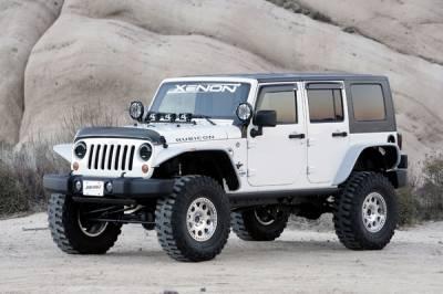 Xenon - Jeep Wrangler Xenon Flat Panel Urethane Fender Flare Kit - 9010