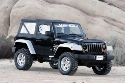 Xenon - Jeep Wrangler Xenon Step Down Urethane Fender Flare Extension Kit - 9040