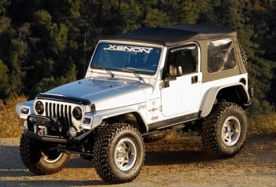 Xenon - Jeep Wrangler Xenon Flat Panel Urethane Fender Flare Kit - 9070