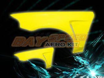 Bayspeed. - Honda Civic 2DR Bay Speed F1 Style Fender - 8215F1-FD