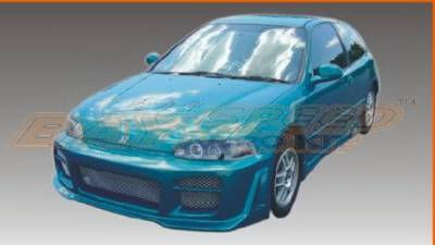 Bayspeed. - Honda Civic 2DR Bay Speed Octane Front Bumper - 8215SR