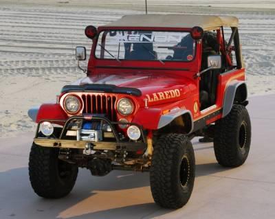 Xenon - Jeep CJ7 Xenon Flat Panel Urethane Fender Flare Kit - 9090