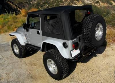 Xenon - Jeep Wrangler Xenon Flat Panel Rear Urethane Fender Flare Kit - 9170