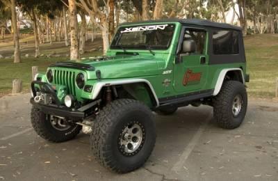 Xenon - Jeep Wrangler Xenon Flat Panel Urethane Fender Flare Kit - 9190