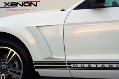 Xenon - Ford Mustang Xenon Front Fender Scoop Kit with Black Vinyl Insert - Left & Right - 12820
