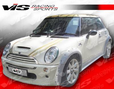VIS Racing - Mini Cooper VIS Racing M-Speed Front Fender Flares - 02BMMC2DMSP-007