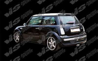VIS Racing - Mini Cooper VIS Racing Euro Tech Rear Fender Flares - 02BMMCS2DET-006