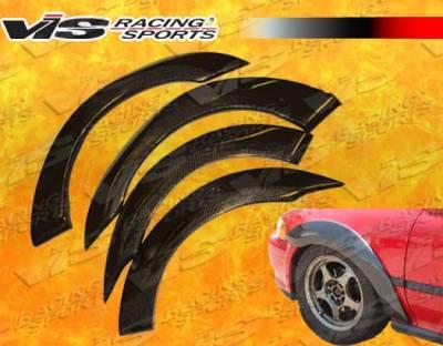 VIS Racing - Honda Civic HB VIS Racing Custom Carbon Fiber Fender Flares - 92HDCVCHBCUS-076C