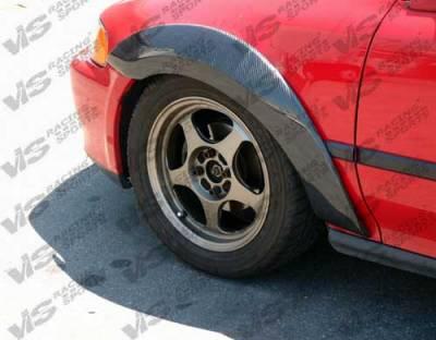 VIS Racing - Honda Civic 2DR VIS Racing Custom Carbon Fiber Fender Flare Set - 96HDCVC2DCUS-076C