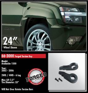 ReadyLift - ReadyLift Forged Torsion Key Suspension Leveling Kit - 2.5 Inch Lift 33 Inch Max