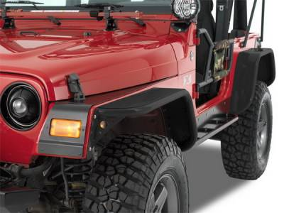 Warrior - Jeep Wrangler Warrior Rear Tube Flares - Pair